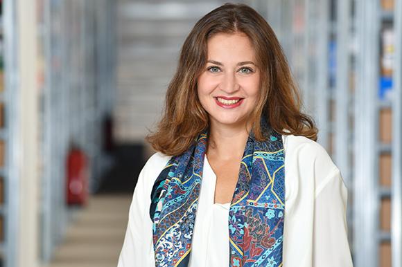 Portrait de femme dans l'entreprise